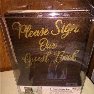 Wooden wedding sign with gold writing